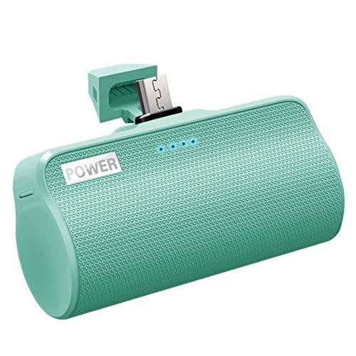 Nrpfell 3000MAh Power Battery, Potente Interfaz de Cargador de Android, BateríA Externa para TeléFono MóVil, Adecuado para Verde