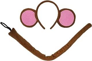 "SeasonsTrading Monkey Ears Headband & 22"" Long Tail Costume Set (Pink) Party Kit"