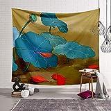 KHKJ Tapiz de Estilo Chino, decoración de Tela, Tapiz de Temporada, Manta para Colgar en la Pared, Manta de Toalla de Playa, Colcha de Yoga, Alfombra A8 95x73cm