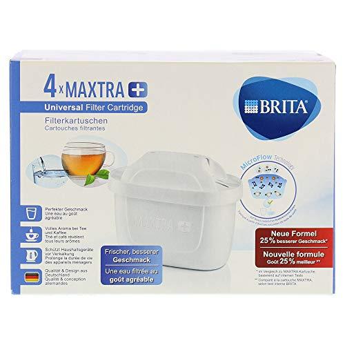 Brita pack de 4 cartouches maxtra+ pour carafes filtrantes