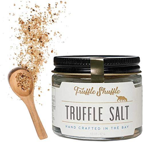 TRUFFLE SHUFFLE Balinese Truffle Salt, Handcrafted Sea Salt, French Black Summer Truffles, 1.5oz