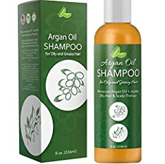 SHAMPOO FOR OILY SCALP + DRY HAIR all-natural sulfate free shampoo with argan + jojoba cleanse balances + purifies hair to reduce sebum and strengthen hair strands for less breakage + healthier hair. MOISTURE CONTROL balancing shampoo for oily hair r...