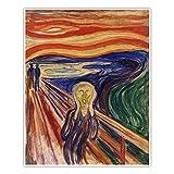 CanvasArts Der Schrei - Edvard Munch - Poster (100 x 80 cm,