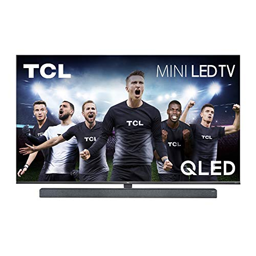 TCL 65X10 Fernseher 65 Zoll (164 cm) Smart TV mit integrierter Onkyo Soundbar (QLED, 4K Mini LED, UHD, Android TV, Prime Video, Micro Dimming, 120 Hz Display), Schwarz Metallic