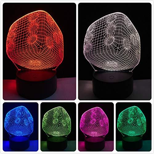 Nndxh Magic Art Deco Gambling Dice 3D Usb Led Light Room Gadget Prop Source De Lumière Acrylique Night Light Rgb Glowing Light Gift, Novel Gift