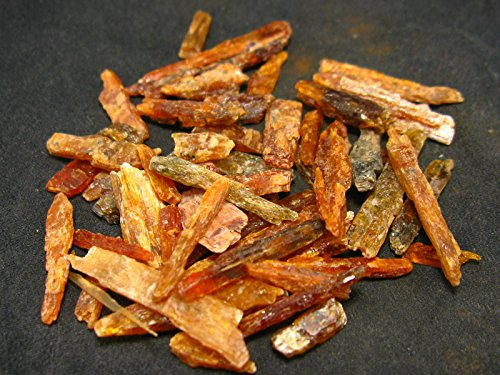 Lot of Five (5) Rare Orange Kyanite Crystals From Tanzania