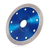 Disco Diamantato 115 mm Sottile Professionale Disco Diamantato Smerigliatrice Taglio per Gres Porcellanato Piastrelle Ceramica Marmo a Secco e Umido (blu, 115mm)