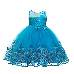 Baiomawzh Vestido de Niñas Vestidos Princesa Sin Mangas Falda ...