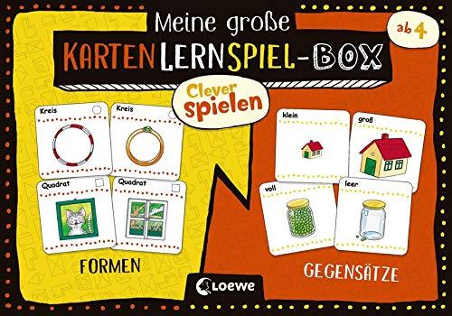 Clever Spielen - Meine große KartenLernSpiel-Box - Formen/Gegensätze: Kartenspiele für Kindergartenkinder ab 4 Jahre