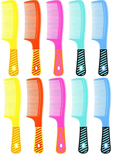 10 Pieces Colorful Hair Comb Round Handle Comb Detangling Comb Wet Hair Comb Colorful Hair Comb for Women and Men