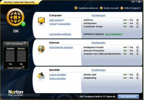 Norton Internet Security 2009 1 PC - deutsch