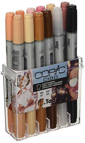 Copic Ciao Marker, 12-er Set, hautfarben