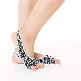 SGJFZD 3pairs/Pack Cotton Toe Dew Heel Yoga Socks Digging Hole Backless Yoga Gym Sports Socks Fitness Yoga Socks, Color Randomly Sent (Color : Random)