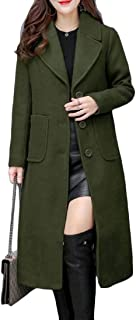 Womens Jacket Notched Lapel Single Breasted Solid Pocket Outwear Winter Jacket