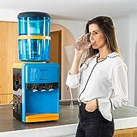 AGUA FILTRADA AMBIENTE, FRÍA Y CALIENTE: El dispensador de agua con depósito de filtrado ECO-DE te permite disfrutar del agua a 3 temperaturas (caliente, natural y fría). Con un sencillo piloto, el dispensador de agua te indica si hay agua refrigerad...