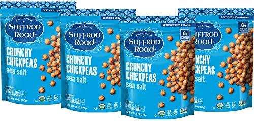 Saffron Road Organic Crunchy Chickpeas, Non-GMO, Gluten-Free, Halal, Sea Salt, 4 Count