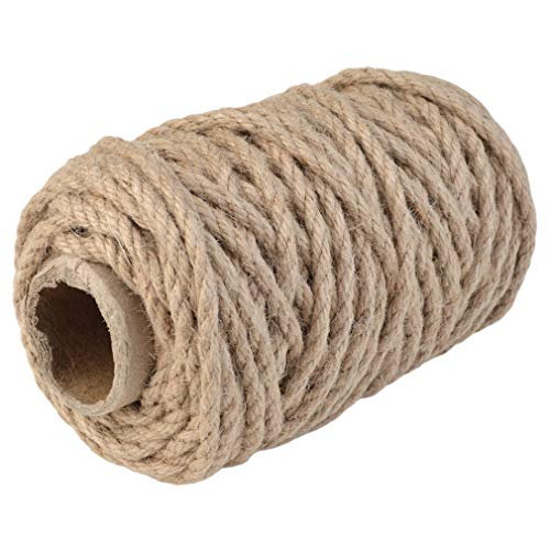 Topbuti 5mm Natural Jute Twine 100 Feet Braided Jute Rope, Crafting Twine String Thick Twine for DIY Artwork, Christmas Twine, Gift Wrapping, Gardening Applications Photo #3