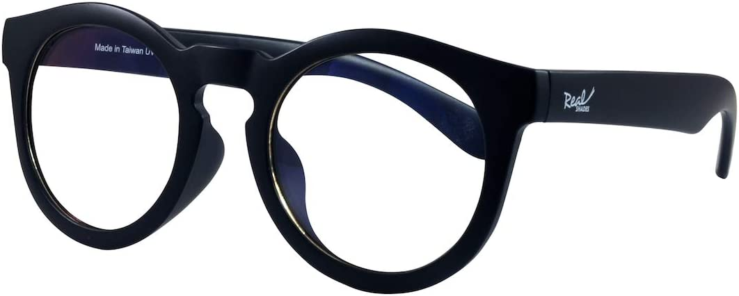 Matte Black Fashion Styke Flexible Frames with Polycarbonate Blue Light Yellow Lens 2+