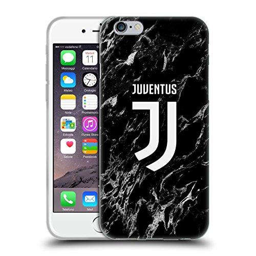Head Case Designs Offizielle Juventus Football Club Schwarz Marmor Soft Gel Handyhülle Hülle Huelle kompatibel mit Apple iPhone 6 / iPhone 6s