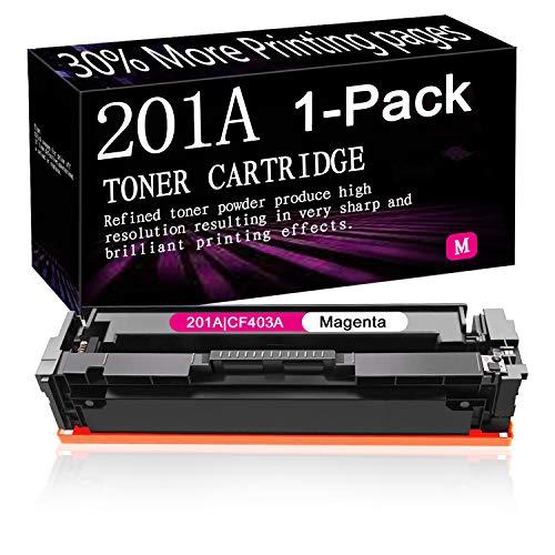 1-Pack (Magenta) Compatible Toner Cartridge Replacement for HP 201A | CF403A Laserjet Pro M252dw M252n MFP M277n MFP M277dw MFP M277c6 MFP M274n,Sold by SinaToner.