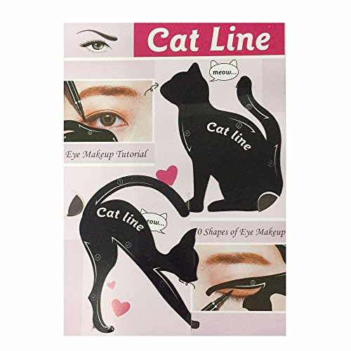 2 in 1 Cat and Smokey Stencil Cat Eyeliner Template Eyeliner Make-Up Template Tool PVC Smoky Eyeliner Eyeshadow Eye Shadow Applicators Fashion Eye Make Up Tool for Girl Women