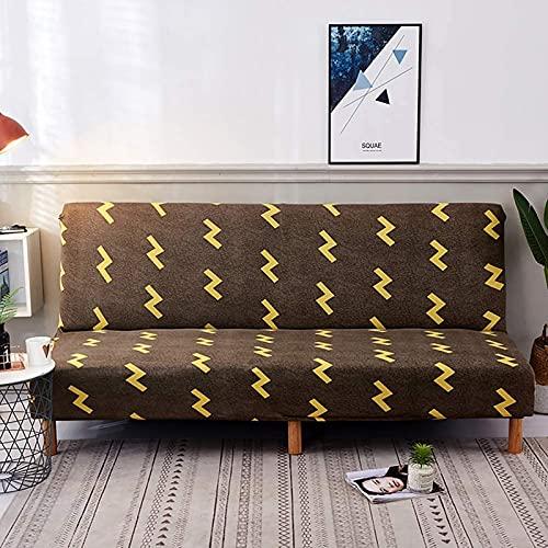 HUANXI Strecken Schlafsofa für Haustier, Elastic Soft Loveseat Armless Sofa Schonbezug Abnehmbarer maschinenwaschbarer Rutschfester Möbelschutz für Schlafsofa 155x190cm, 04