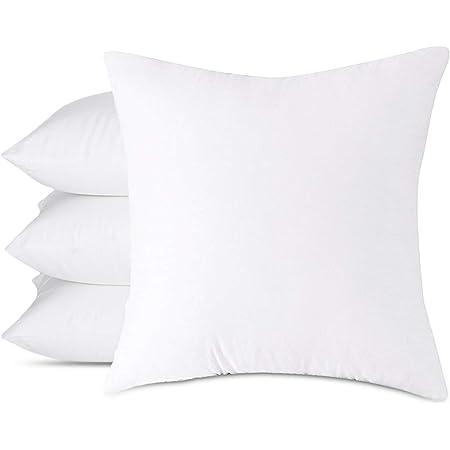 Emolli 18 x 18 Pillow Inserts Set of 4, Throw Pillow Inserts Premium Stuffer Down Alternative,Super Soft Microfiber Filled Decorative Pillow Cushion