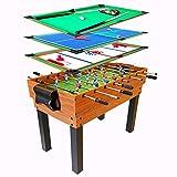 4 in 1マルチゲームテーブル、ミニビリヤード台、フーズボールフットボールテーブル、エアホッケーテーブル、卓球テーブルピンポンテーブル、キッズアダルト