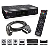 Full HD digitaler Kabel Receiver DVB-C / C2 mit Aufnahmefunktion PVR & Timeshift für alle Kabel-Anbieter mit HDMI | SCART | USB | Auto- Installation | Mediaplayer | 1080p | MKV