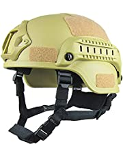 ROKFSCL Casco táctico ligero estilo militar casco rápido SWAT combate para airsoft al aire libre Paintball CS Game CQB Shooting Safety Headgear