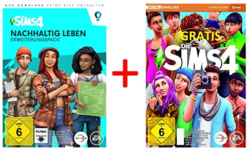Die Sims 4 Nachhaltig leben-Erweiterungspack Standard [PC Download – Origin Code] PLUS Die Sims 4 Basisspiel GRATIS Geschenk-Bundle