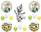 Anagram Frozen Fever Sunflowers Olaf Happy Birthday Balloons Decoration Supplies Summer Elsa Anna