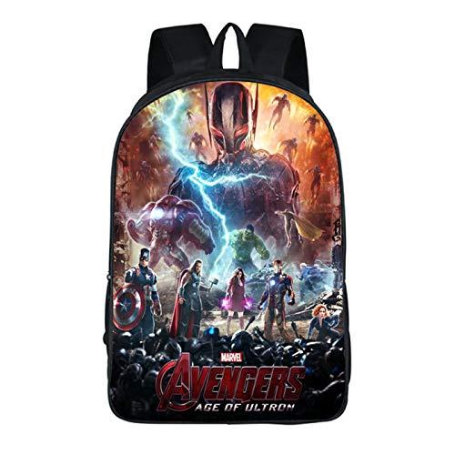 Mzshubao Kids Endgame Backpack-Boys Captain America School Bookbag 3D Printed School Backpack-Backpacks for Outdoor,Travel