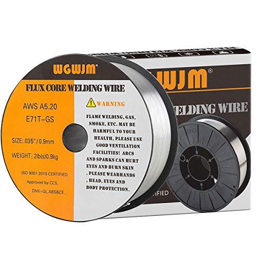 WGWJM Gasless Flux Core Mig Welding Wire Mild Steel E71TGS.035-Diameter / 2-Pound Spool