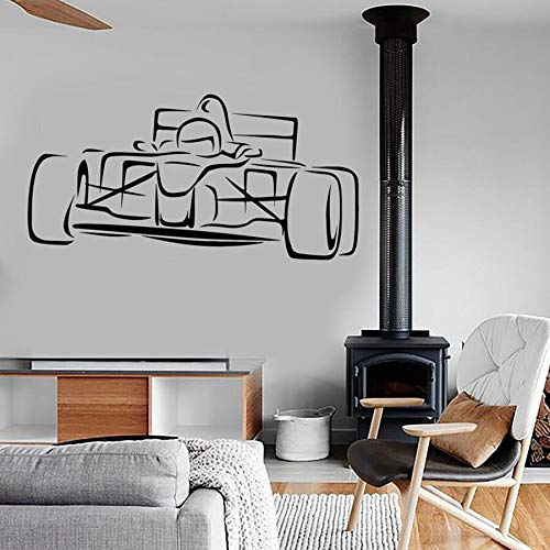 Calcomanía de pared Art Racing Kart Supercar Cool Car Kids Boy Dormitorio Habitación para adolescentes Sala de juegos Decoración del hogar Etiqueta de vinilo