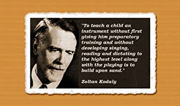 Zoltan Kodaly Quotes 2 - Canvas Art Print