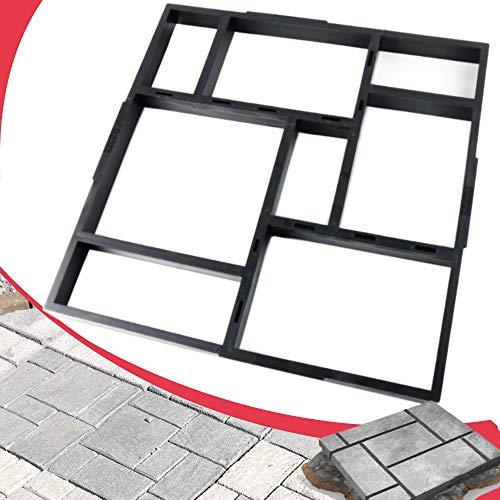 "Anothera 20""x20""x1.8"" Plus Size Walk Maker Reusable Concrete Path Maker Molds Stepping Stone Paver Lawn Patio Yard Garden DIY Walkway Pavement Paving Moulds (8-Grid)"
