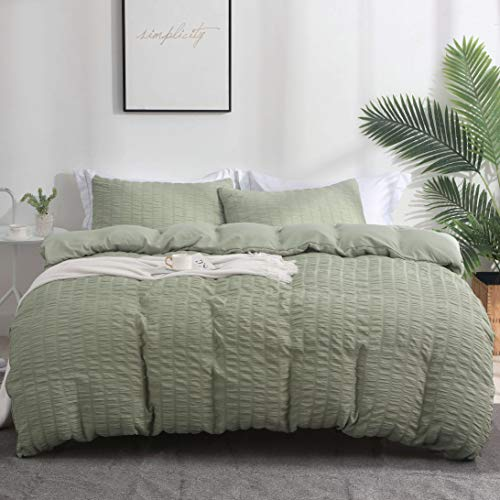 AveLom Green Duvet Cover Queen(90 x 90 inches), 3 Pieces (1...