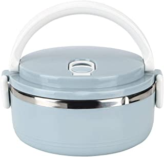Lunch Box, Non-Toxic, Safe and Eco-Friendly,Portable Stainless Steel Blue Thermal Insulated Rice Noddles Lunch Box Food Co...