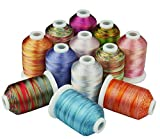 Filo da Ricamo 12 Multi-Colori Ricamo in Filo 1000 Metri ciascuno for Cucire Quilting overlocking On Any Home Macchinari MDYHJDHYQ