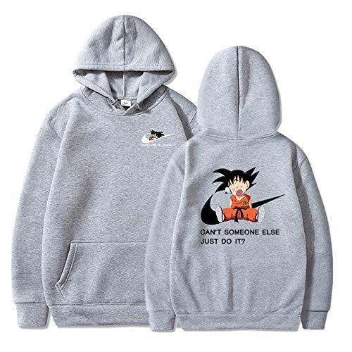 HNOSD Naruto Dragon Ball Z Hoodies 3D Druck Pullover Sportswear Sweatshirt Dragonball Super Saiyajin Son Goku Outfit 8 M