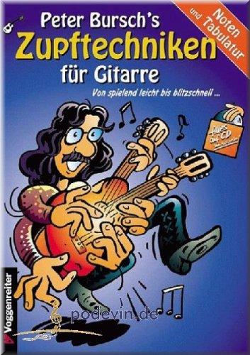Zupftechniken für Gitarre - Gitarrenoten [Musiknoten]