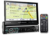 Power Acoustik PDN-721HB 7' 1-Din Car Bluetooth Receiver w/DVD/GPS/Navigation