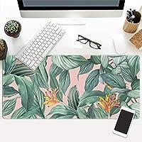 熱帯植物 ゲーミングマウスパット ラップトップ用,超大判 葉 マウスパッド,ネイチャープラント 長い キーボードパッド コンピュータ用,美しいデザイン