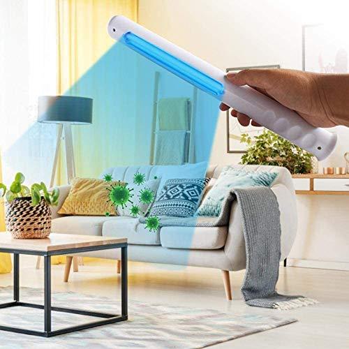 MAGO Lámpara de Desinfección UV Lámpara Ultravioleta Germicida Portátil Esterilización Eficiente 99% Temporizador de 5/15/30Minutos para Casa Oficina Hotel Coche
