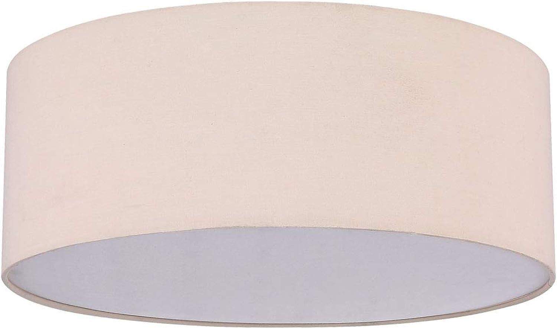 Textil Decken Lampe Wohn Zimmer beleuchtung Strahler Lampe beige im Set inkl. LED Leuchtmittel