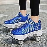 Zapatos Multiusos 2 En 1 Patines Zapatillas Deportes Al Aire...