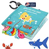 Best Baby Cloth Books - Baby Shark Cloth Book Soft Baby Activity Books,Tails Review