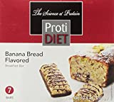 ProtiDIET Delicious Protein Bar   Nutritious Low Fat & Carb Snack With High Vitamins & Minerals     Healthy & Energizing Small Meal   Assists In Weight Loss (Banana Bread)