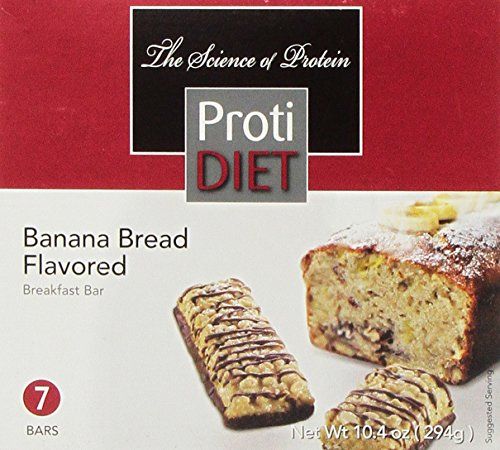 ProtiDIET Delicious Protein Bar | Nutritious Low Fat & Carb Snack With High Vitamins & Minerals | | Healthy & Energizing Small Meal | Assists In Weight Loss (Banana Bread)